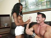 black teen rubbing white