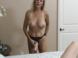 Blonde mom with a strap-on in cool dirty porn