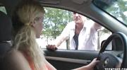 girl picks stranger car