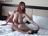 Perky tits get rubbed, pussy gets wet