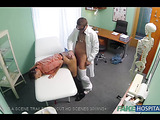Lovely brunette chick gets her wet twat creampied after a doctor's check-up