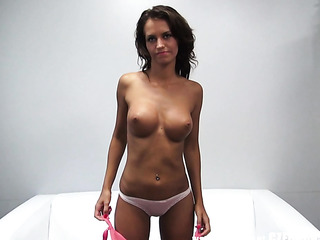 sassy oiled brunette with