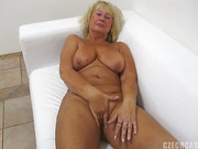 horny blonde granny with