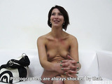 Horny black haired slut with luscious boobs sucking dick and getting hardcore fucked lustfully.
