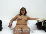 Hot curvy brunette milf with gorgeously big boobs and juicy pussy sucking and getting hardcore fucked by a thick cock.