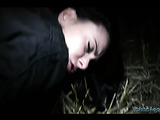 Black haired slut loves getting hardcore fucked outdoor in the night.