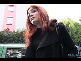 Horny redhead teacher swallowing thick cock and bending over for extra cash.