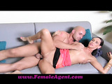 Randy brunette milfs loves swallowing and riding his big thick cock furiously.
