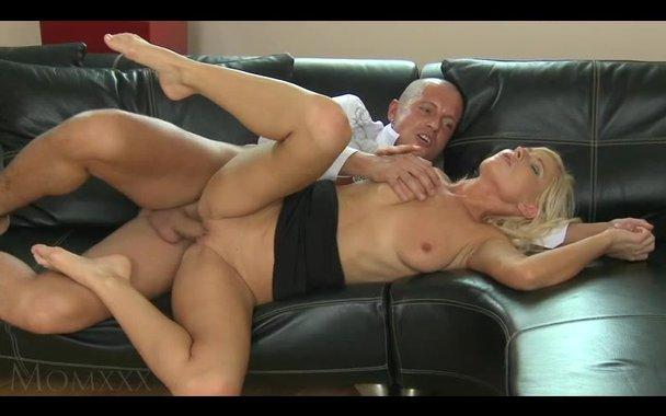 Milf fucks on sofa