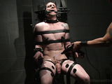 Tattooed gay gets bound and tortured with electricity