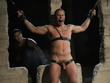 Inked gay gets lots of satisfaction jeered badly by a professional bdsm master