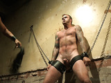 Special pleasure for kinky gay in various bondage and punishment