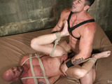 Bald hunk roped, tortured with electricity and assdrilled hard