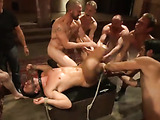Stretched and bound dude gets punished and banged hard