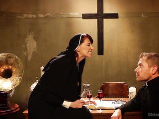 lustful nun punishing lewd