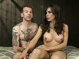Tattooed guy enjoys being bound and fucked by a very hot T-girl
