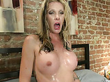 Black gets his butthole drilled badly by a horny blonde tranny with lots of tattooos