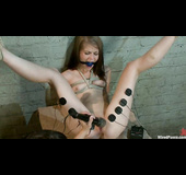 Two teen gals get bound and tortured badly by a kinky experienced mistress
