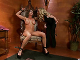 Busty MILF asks her blonde friend to rope her and to punish properly