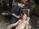 Tattooed dude with a long hairy dick gets it worked out when bound in karada style