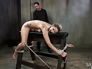 tattooed ponytailed whore with