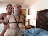 Busty ginger babe gets bound and assbanged hard by her step brother