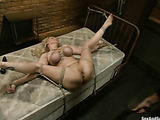 Boobilicious blonde mommy gets hogtied for humiliation and hard pounding in all holes