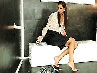 brunette office slut and
