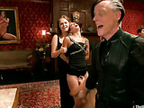 Blonde and brunette chicks allow to do dirty rough things to guests at the bdsm private party