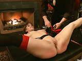 Submitted girls in chains getting spanked and punished variously in public at the party