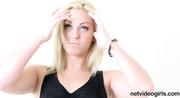 cute blonde hot black