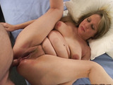Plump blonde housewife gets her asshole stuffed with a thick meat