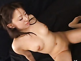 Sexy Asian babe with firm boobs drinking hot anal cum after a dirty rimming