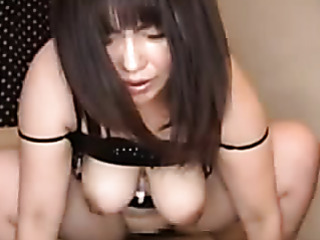 asian chick black lingerie