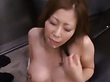 Ginger mom from Japan gets mouthful of jizz after a sloppy cocksucking