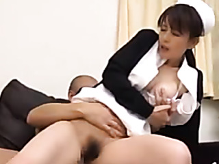 shy japanese nurse black