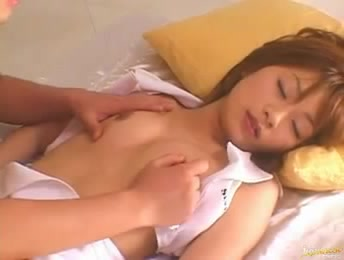 asian sleeping fuck - Horny guy squeezing big tits of a sleeping Asian girl to awake her and fuck  - Porn Video at XXX Dessert Tube