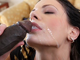 Slim brunette in high heels really enjoys coping with a very huge black donkey