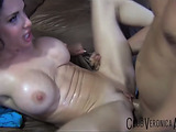 Busty brunette MILF gets her cunt drilled after fingering and squirting