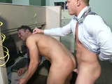 Two lads fucking after party in the office
