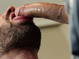 Tattooed bearded gay having licked feet and all body of his lover before hard anal sex