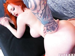 orange-haired bitch with huge