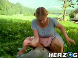 Very hot retro porn with a fucking scene during the hunting