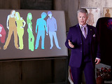 Gender sensei in a purple suit discusses the gender spectrum.