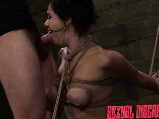 swarthy brunette with tits