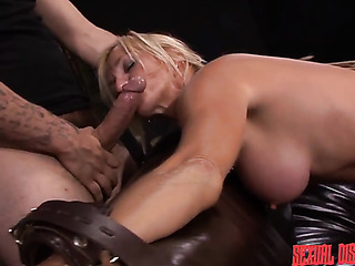 blonde busty cougar gets