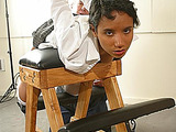 Ebony school girl suffers spanking because of bad behavior