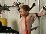 Sexy teen gets chained and stimulated like never before