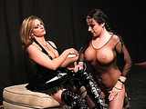 Sensitive clit of sexy lady in bodystocking gets stimulated