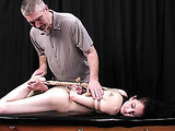A lot of ropes don't give young girl a chance to move